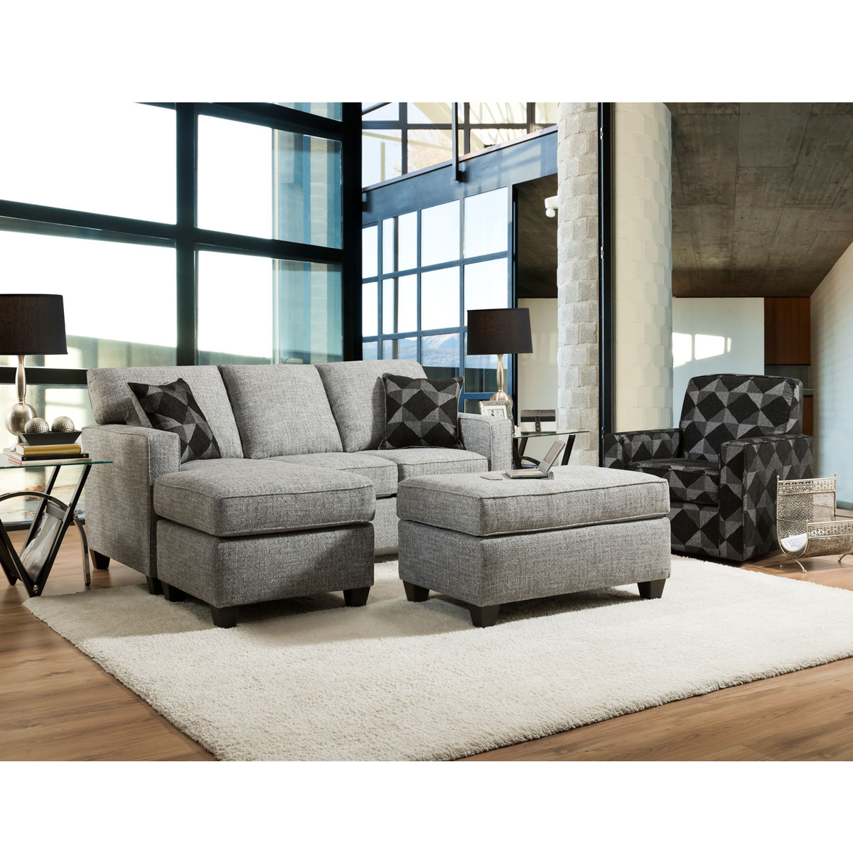 Ashville Sofa Chaise Cook Brothers, Cook Brothers Living Room Sets